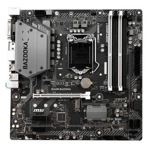 Материнская плата MSI B360M BAZOOKA, LGA 1151v2, Intel B360, mATX, Ret цена и фото