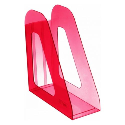 Лоток вертикальный СТАММ Фаворит ЛТ708, 233x90x240, пластик, темно-красный / тонированный платье oodji ultra цвет красный белый 14001071 13 46148 4512s размер xs 42 170