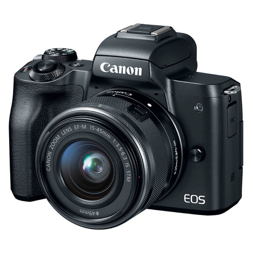Фотоаппарат CANON EOS M50 kit ( 15-45 IS STM), черный [2680c012] canon eos 750d kit 18 55 is stm черный