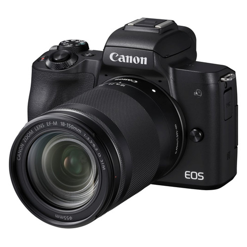 Фотоаппарат CANON EOS M50 kit ( 18-150 IS STM), черный [2680c042] canon eos m50 15 45 is stm белый