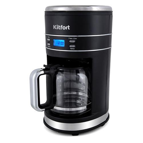 Кофеварка KitFort КТ-704-2, капельная, черный