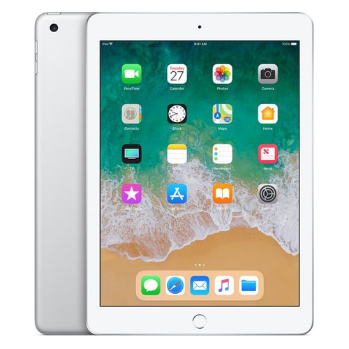 Планшет APPLE iPad 2018 32Gb Wi-Fi MR7G2RU/A, 2GB, 32GB, iOS серебристый планшет apple ipad 9 7 32gb серебристый wi fi bluetooth ios mp2g2ru a