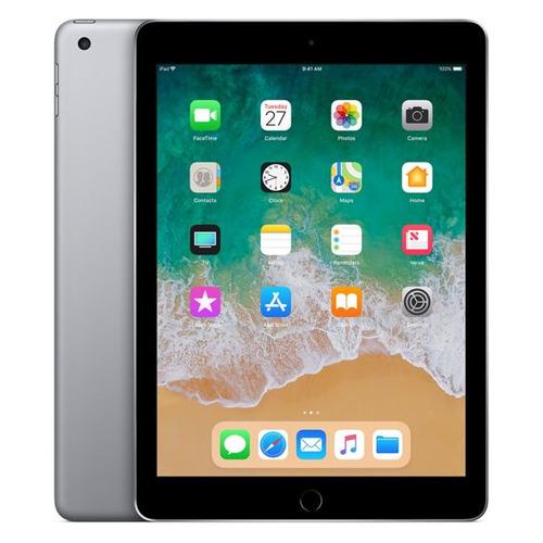 Планшет APPLE iPad 2018 32Gb Wi-Fi + Cellular MR6N2RU/A, 2GB, 32GB, 3G, 4G, iOS темно-серый планшет apple ipad 9 7 32gb wi fi cellular gold ios 10 a9 1840mhz 9 7 2048x1536 2048mb 32gb 4g lte 3g edge hsdpa hspa [mpg42ru a]