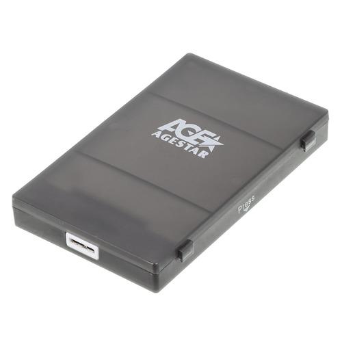 Внешний корпус для HDD/SSD AGESTAR 3UBCP1-6G, черный внешний корпус для hdd agestar 3ub2p1 черный