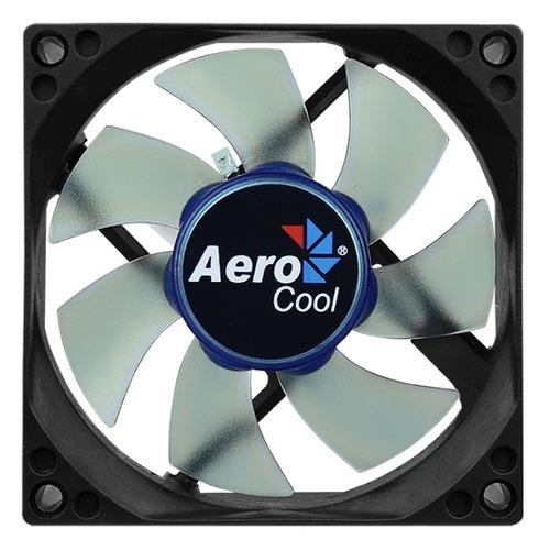 Вентилятор AEROCOOL Motion 8 Blue-3P, 80мм, Ret вентилятор aerocool shark blue edition 140 мм en55468