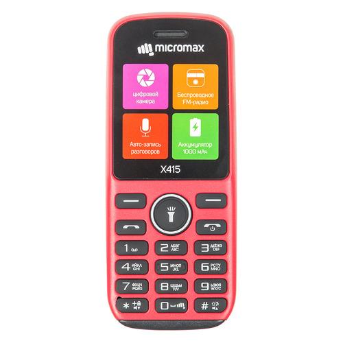 Мобильный телефон MICROMAX X415 красный micromax q334 canvas magnus красный