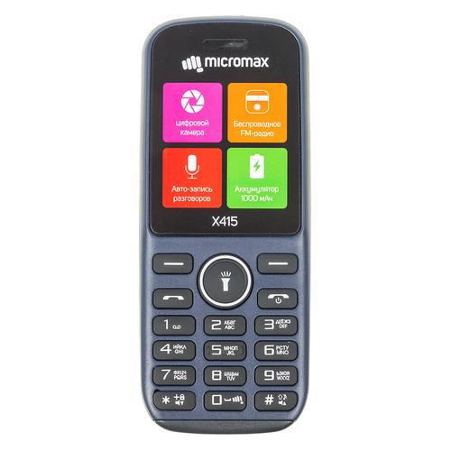 Мобильный телефон MICROMAX X415 синий цена 2017
