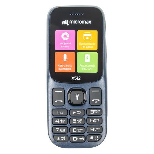 купить Мобильный телефон MICROMAX X512 синий дешево