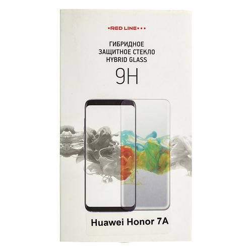 цена на Защитное стекло для экрана REDLINE для Huawei Honor 7A, гибридная, 1 шт [ут000014472]