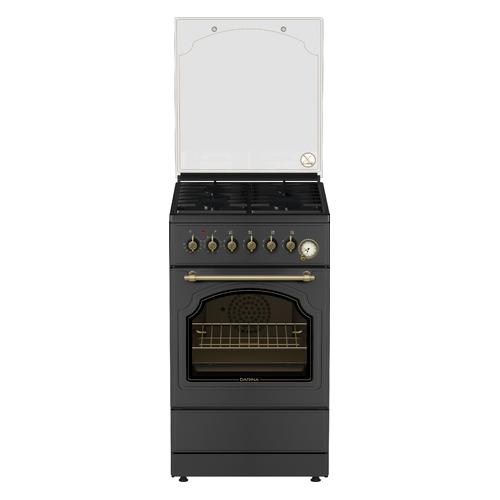 Газовая плита DARINA 1F8 2312 At, электрическая духовка, антрацит цена и фото