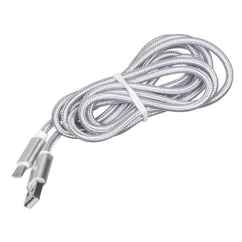 Кабель REDLINE USB Type-C (m), USB A(m), 2м, серебристый [ут000014156] дата кабель redline usb type c orange