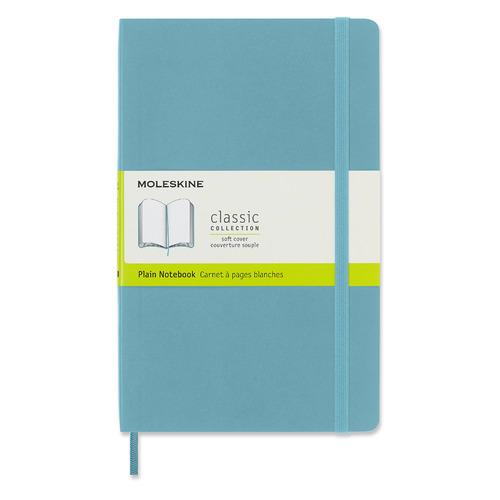 Блокнот Moleskine CLASSIC SOFT Large 130х210мм 192стр. нелинованный мягкая обложка голубой 8 шт./кор. цена и фото
