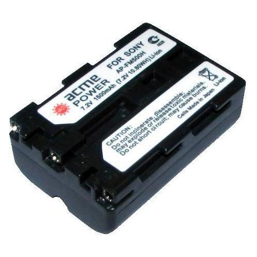 Аккумулятор ACMEPOWER AP-NP-FM500, 7.2В, 1500мAч, для компактных камер и видеокамер аккумулятор acmepower ap blh7 li ion 7 2в 500мaч для компактных камер panasonic dmc gm1