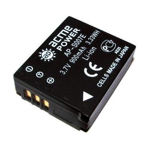 Аккумулятор ACMEPOWER AP-S007E, 3.7В, 850мAч, для компактных камер и видеокамер Panasonic DMC-TZ1/TZ2/TZ3/TZ4/TZ5/TZ50 аккумулятор acmepower ap blh7 li ion 7 2в 500мaч для компактных камер panasonic dmc gm1