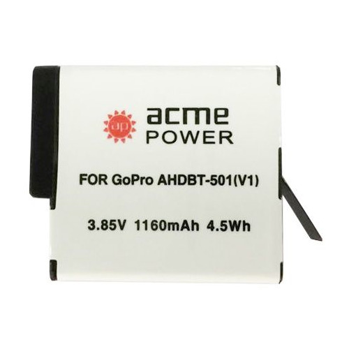 Аккумулятор ACMEPOWER AP-AHDBT-501, 3.85В, 1160мAч, для экшн-камер GoPro Hero 5/6 acmepower lp e10