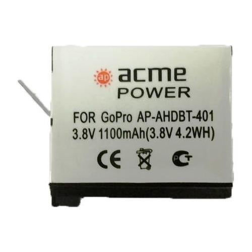 цена на Аккумулятор ACMEPOWER AP-AHDBT-401, 3.8В, 1100мAч, для экшн-камер GoPro Hero4