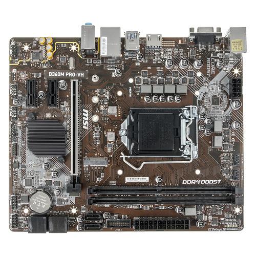 Материнская плата MSI B360M PRO-VH, LGA 1151v2, Intel B360, mATX, Ret материнская плата msi h110m pro vh lga 1151 matx ret