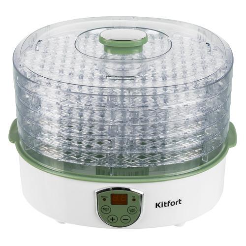 Сушилка для овощей и фруктов KITFORT KT-1902, белый, 5 поддонов