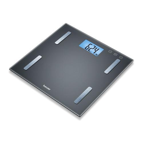 Напольные весы BEURER BF180, до 180кг, цвет: черный [749.09] напольные весы beurer ps240 до 180кг цвет черный [754 15]