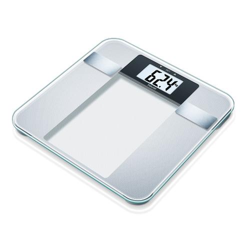 Напольные весы BEURER BG13, до 150кг, цвет: серебристый [760.30] sinbo весы напольные электронные sinbo sbs 4414 макс 150кг серебристый черный