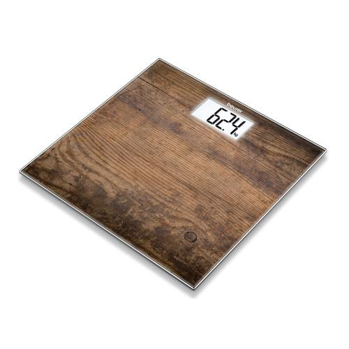 цена на Напольные весы BEURER GS203, до 150кг, цвет: рисунок/дерево [756.32]