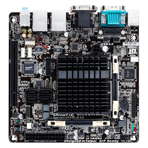 Материнская плата GIGABYTE GA-N3160N-D3V, mini-ITX, Ret gigabyte ga b150m d3v ddr4