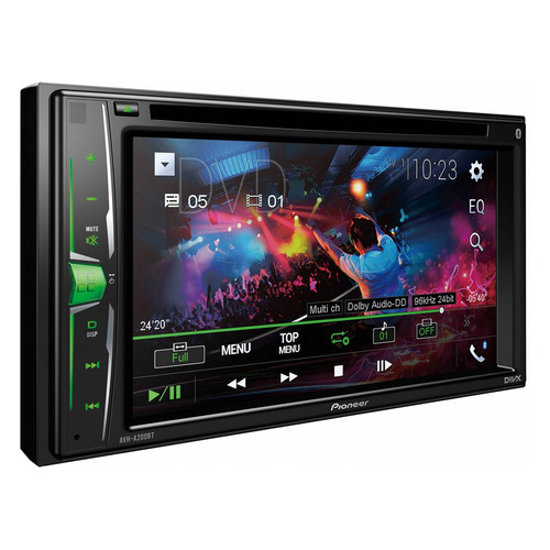 Автомагнитола PIONEER AVH-A200BT, USB reakosound 6201a 6 2 inch 6201a audio dvd sb sd bluetooth 2 din car cd player 1 3 inch color cmos camera