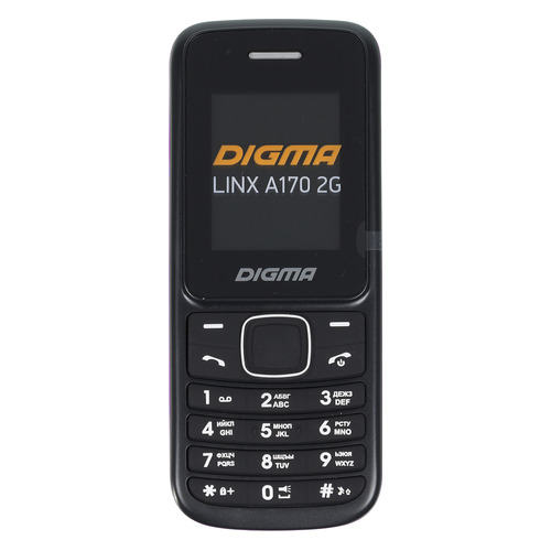 Мобильный телефон DIGMA Linx A170 2G, черный/пурпурный