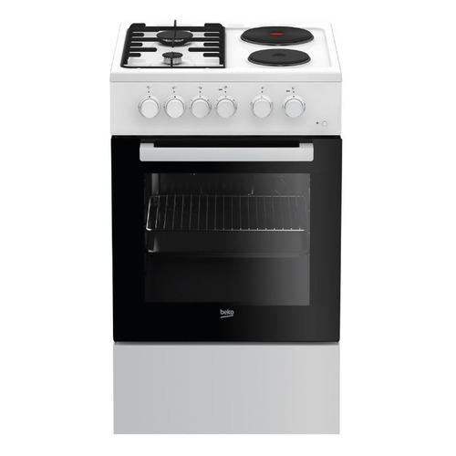 Газовая плита BEKO FFSS54000W, электрическая духовка, белый цена 2017