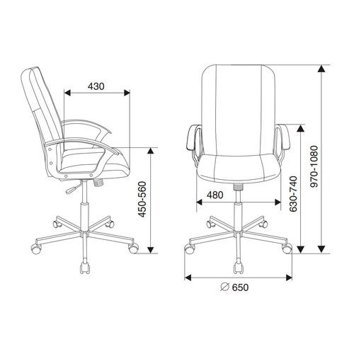 Кресло БЮРОКРАТ CH-551, на колесиках, искусственная кожа, черный [ch-551/black] кресло бюрократ ch 605 на колесиках искусственная кожа черный [ch 605 black]