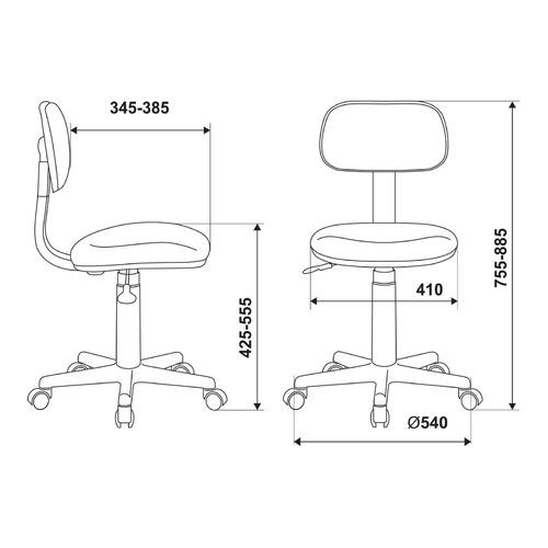 Кресло детское БЮРОКРАТ CH-W201NX, на колесиках, ткань, белый [ch-w201nx/ps] цены онлайн