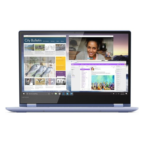 "Ноутбук-трансформер LENOVO Yoga 530-14IKB, 14"", IPS, Intel Pentium 4415U 2.3ГГц, 4Гб, 128Гб SSD, Intel HD Graphics 610, Windows 10, 81EK008TRU, синий"