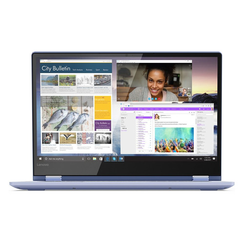 Ноутбук-трансформер LENOVO Yoga 530-14IKB, 14, IPS, Intel Core i7 8550U 1.8ГГц, 8Гб, 256Гб SSD, Intel UHD Graphics 620, Windows 10, 81EK0099RU, синий ноутбук трансформер hp pavilion x360 14 cd0010ur 14 ips intel core i5 8250u 1 6ггц 8гб 1000гб 128гб ssd intel uhd graphics 620 windows 10 4gu34ea золотистый