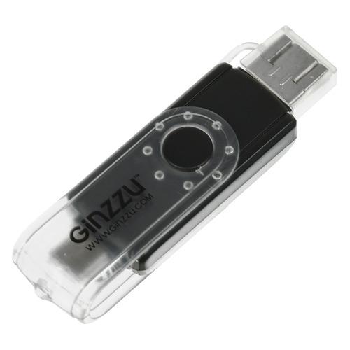 Фото - Картридер внешний GINZZU GR-325B, черный [00-00001012] кардридер ginzzu gr 417ub черный