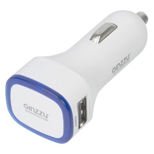 Фото - Автомобильное зарядное устройство GINZZU GA-4415UW, 2xUSB, 3.1A, белый rt 2xusb