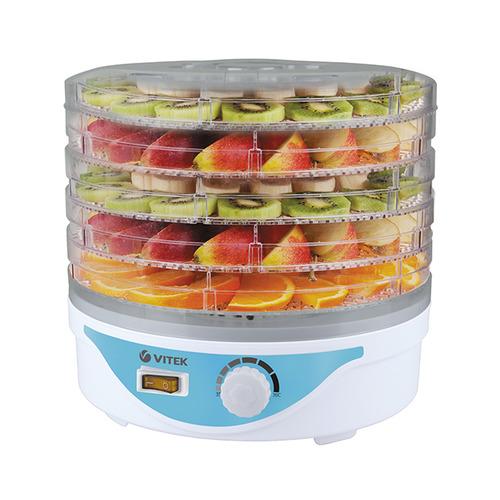 Сушилка для овощей и фруктов VITEK VT-5055, белый, 5 поддонов