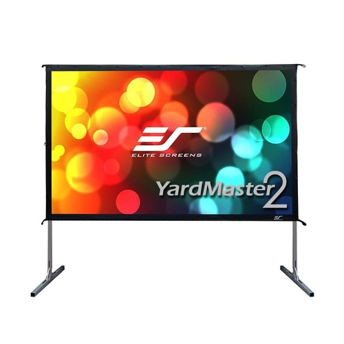 Экран ELITE SCREENS Yard Master OMS135H2-DUAL, 299х168 см, 16:9, переносной(мобильный) high definition projector screen 135 inch 2 35 by 1 fixed projection screens aluminum black velvet frame