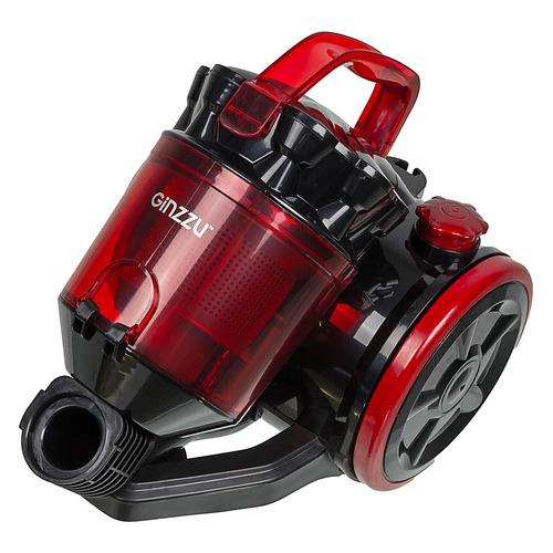 Фото - Пылесос GINZZU VS424, 1600Вт, черный/красный пылесос ginzzu vs420 черный синий