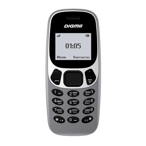 Мобильный телефон DIGMA A105N 2G Linx, серый