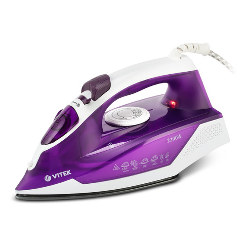 Утюг VITEK VT-8308 VT, 2200Вт, фиолетовый [8308-vt-01] фен vitek vt 2249 vt 2200вт фиолетовый