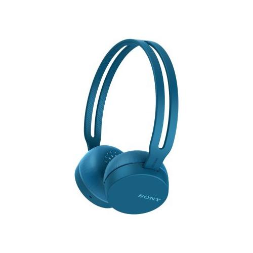 Наушники с микрофоном SONY WH-CH400, Bluetooth, накладные, синий [whch400l.e] sony