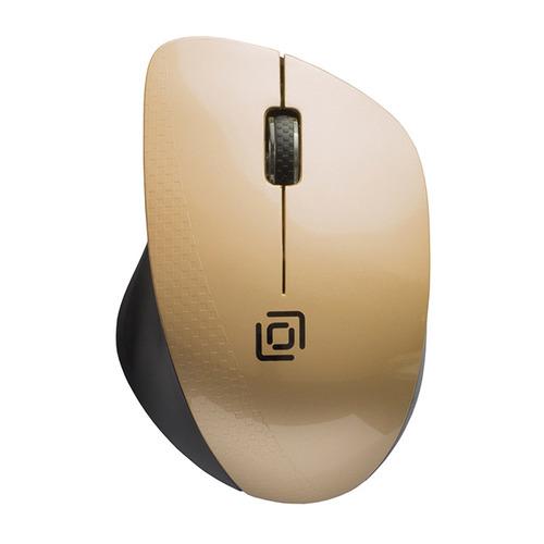 Мышь ОКЛИК 695MW, оптическая, беспроводная, USB, черный и золотистый мышь oklick 695mw черный золотистый оптическая 1000dpi беспроводная usb 3but