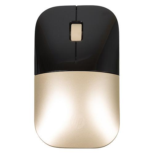 Мышь HP Z3700, оптическая, беспроводная, USB, черный и золотистый [x7q43aa] мышь беспроводная hp 200 silk золотистый чёрный usb 2hu83aa