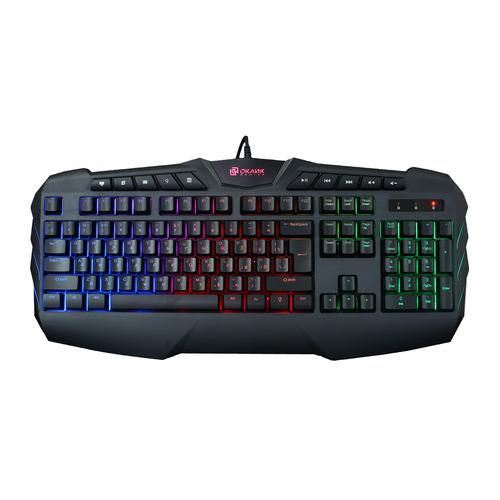 Фото - Клавиатура OKLICK 777G PSYCHO, USB, c подставкой для запястий, черный дутики для девочки biki цвет черный a b23 33 c размер 34