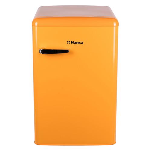 Холодильник HANSA FM1337.3YAA, однокамерный, желтый холодильник однодверный hansa fm1337 3paa