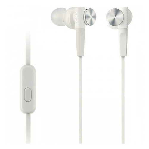 цена на Наушники с микрофоном SONY MDR-XB50AP, 3.5 мм, вкладыши, белый [mdrxb50apw.ce7]