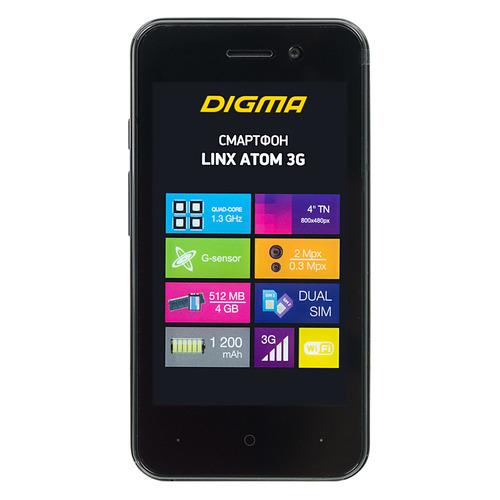 Смартфон DIGMA Linx Atom 3G, черный