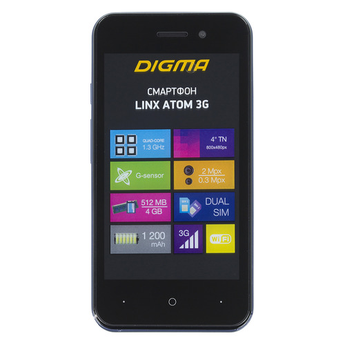 Смартфон DIGMA Linx Atom 3G, темно-синий