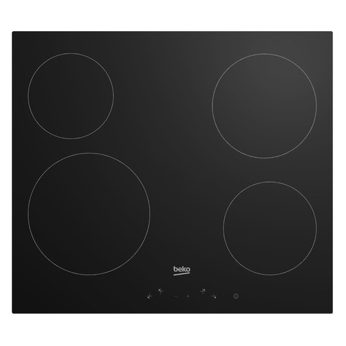 Варочная панель BEKO HIC64401, электрическая, независимая, черный варочная панель beko hiag64223w независимая белый