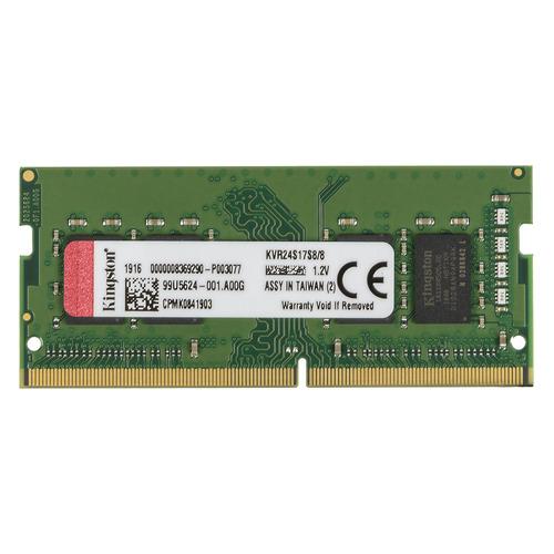 Модуль памяти KINGSTON VALUERAM KVR24S17S8/8 DDR4 - 8Гб 2400, SO-DIMM, Ret модуль памяти corsair value select cmv8gx4m1a2400c16 ddr4 8гб 2400 dimm ret